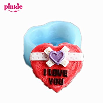 Pinkie TM amor corazón molde para, Chocolate moldes, jabón, vela moldes, sal