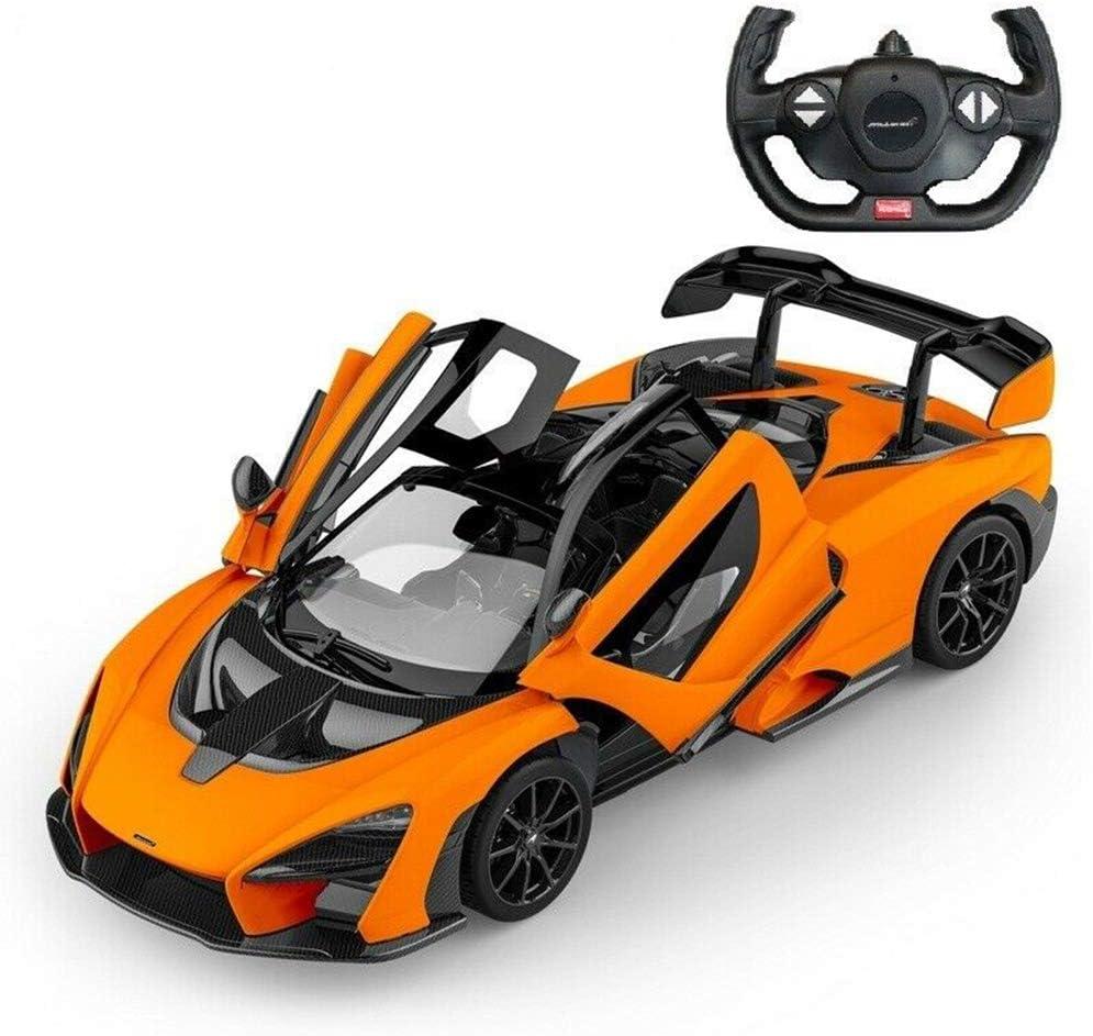 RASTAR RC Car   1/14 2.4Ghz Scale Mclaren Senna Radio Remote Control R/C Toy Car Model Vehicle for Boys Kids, Orange