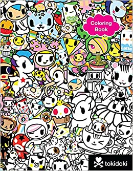 tokidoki coloring pages - tokidoki coloring book tokidoki 9781454921813 amazon