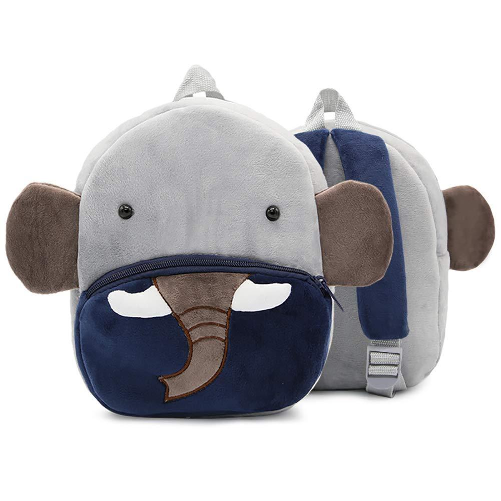 Bambin enfants sac /à dos mignon peluches petits gar/çons sacs /à dos danimaux pour les enfants de moins de 3 ans-Elephant