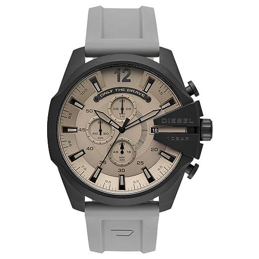 Diesel Reloj Analógico para Hombre de Cuarzo con Correa en Silicona DZ4496: Amazon.es: Relojes