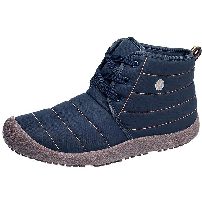 Zapatillas de Mujer de BaZhaHei, Zapatos de algodón de Terciopelo a Prueba de Agua para