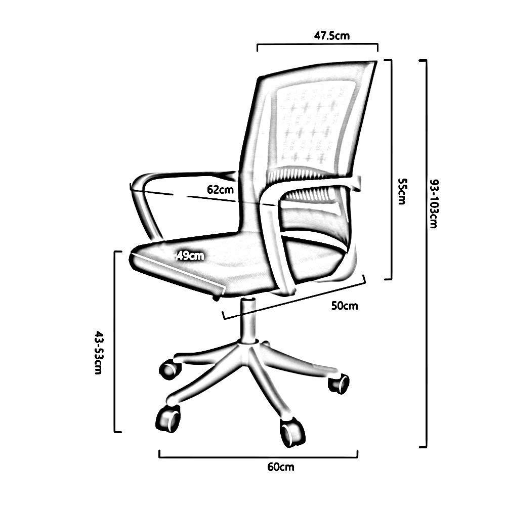 JIEER-C stol svängbar stol kontorsstol, ergonomisk personal datorstol upphöjd roterande hushåll lat kontorsstol för kontor studier uppskattad lastkapacitet: 96 kg, grön BLÅ