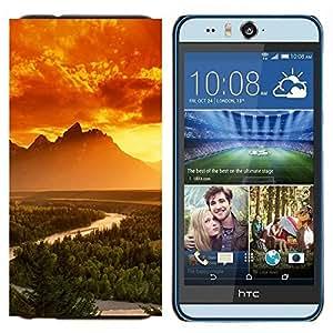 EJOOY---Cubierta de la caja de protección para la piel dura ** HTC Desire Eye M910x ** --Montañas Brillantes