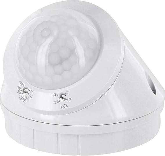Aufputz infrarrojos Detector de movimiento 360 °, IP65, 230 V – con sensor de