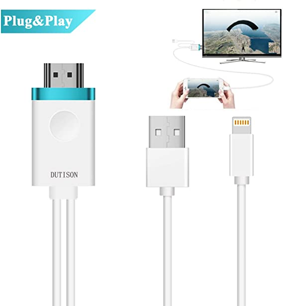 1080P HDMI HDTV AV TV Video Adapter Cable For Apple iPhone SE 6 6S 7 8 Plus X