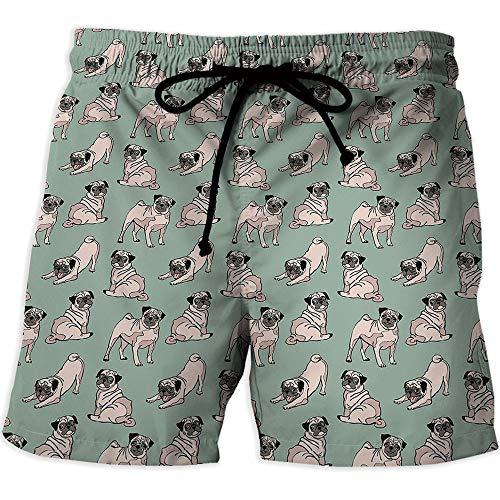 MOOCOM Men's Swim Trunks,Rose,Men's Board Short Swimwear,Old Fashioned Pattern -