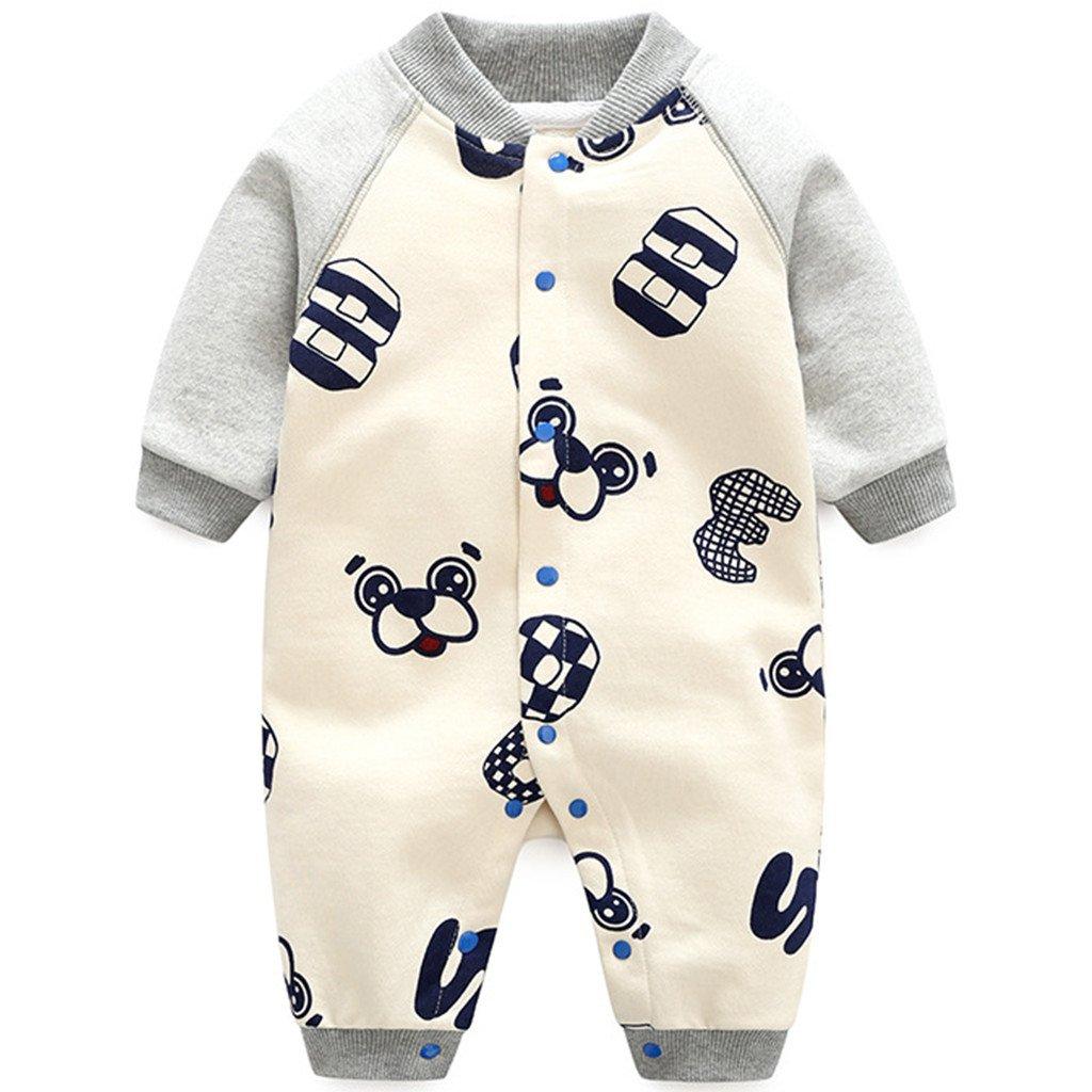 Recién Nacido Bebé Pelele de Algodón Mameluco Espeso Trajes Ropa de Invierno Primavera Otoño 0-3 Meses: Amazon.es: Bebé