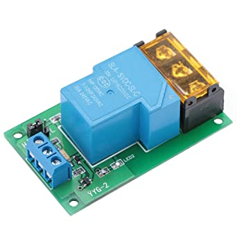 1 Way 30A Relay Module High//Low Level Trigger Relay Module w//Optocoupler