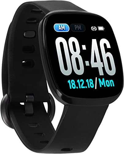 Fullmosa Smart Watch 24 7 Heart Rate Monitor, 1.3in Touch Screen Fitness Tracker IP68 Waterproof Activity Tracker for Android and iOS, Pedometer Sleep Tracker for Women Men
