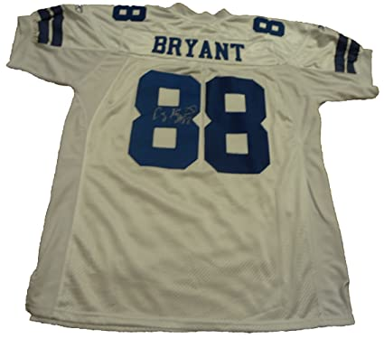 Dez Bryant Autographed White Dallas Cowboys Jersey W Proof