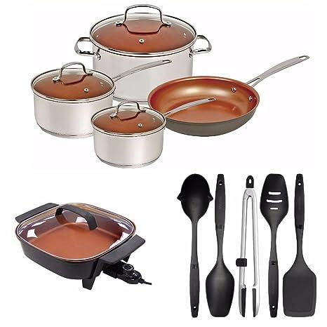 Nuwave Duralon - Juego de utensilios de cocina (7 piezas ...