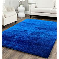 Amazing Rugs Blue Lanudo Soft Plush Shag Area Rug 5 x 7