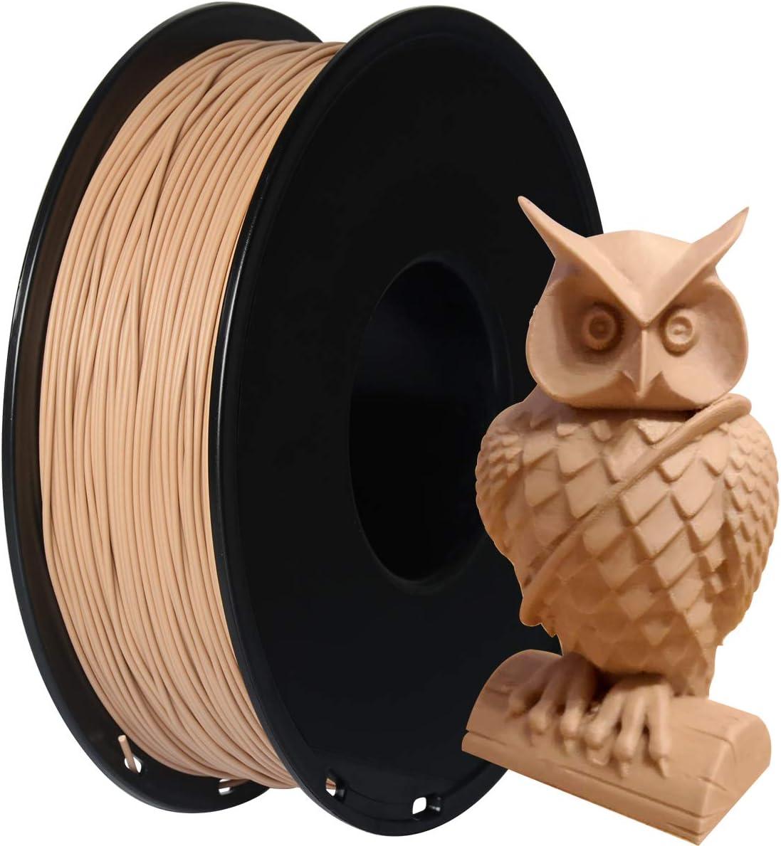 GIANTARM PLA Filamento 1,75 mm f¨¹r Impresora 3D 1 kg, Madera