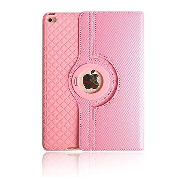 TechCode Estuches para iPad Air 2, 360 Estuche de Soporte Giratorio de Cuero con Ajuste magnético Flip Folio PU con función Inteligente de ...
