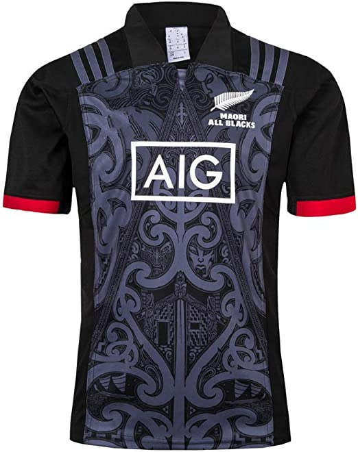 Camisetas de Rugby,Equipo De Nueva Zelanda, Maori All Blacks ...