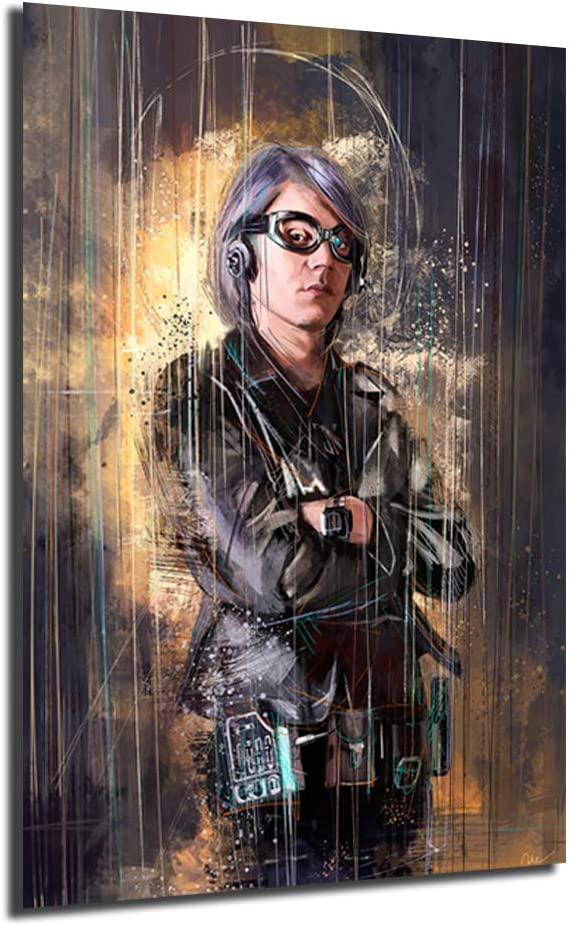 Quicksilver X-Men Movie Wall Art Canvas Painting Poster Print Decorative Picture For Living Room Home Decor (No Framed,16x24inch)