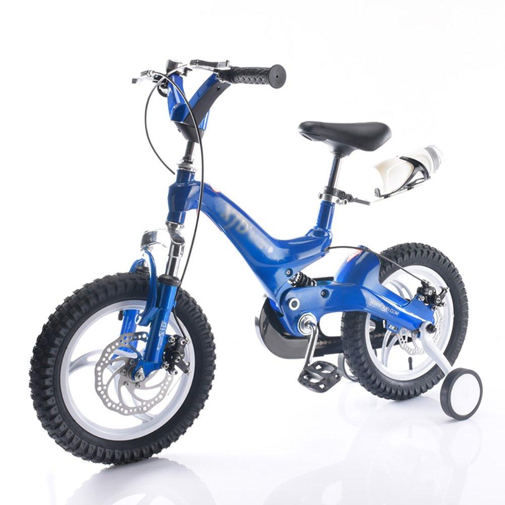 子供用自転車14 16インチ子供用自転車3-4-6-8歳男の子と女の子マウンテンベイビーキャリーホワイトイエローブルーレッドゴールド B07DYHRTYJ 16 inch|青 青 16 inch