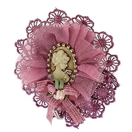 eDealMax Retrato de la decoración de la bufanda Bolsas Claves del borde del cordón gancho de