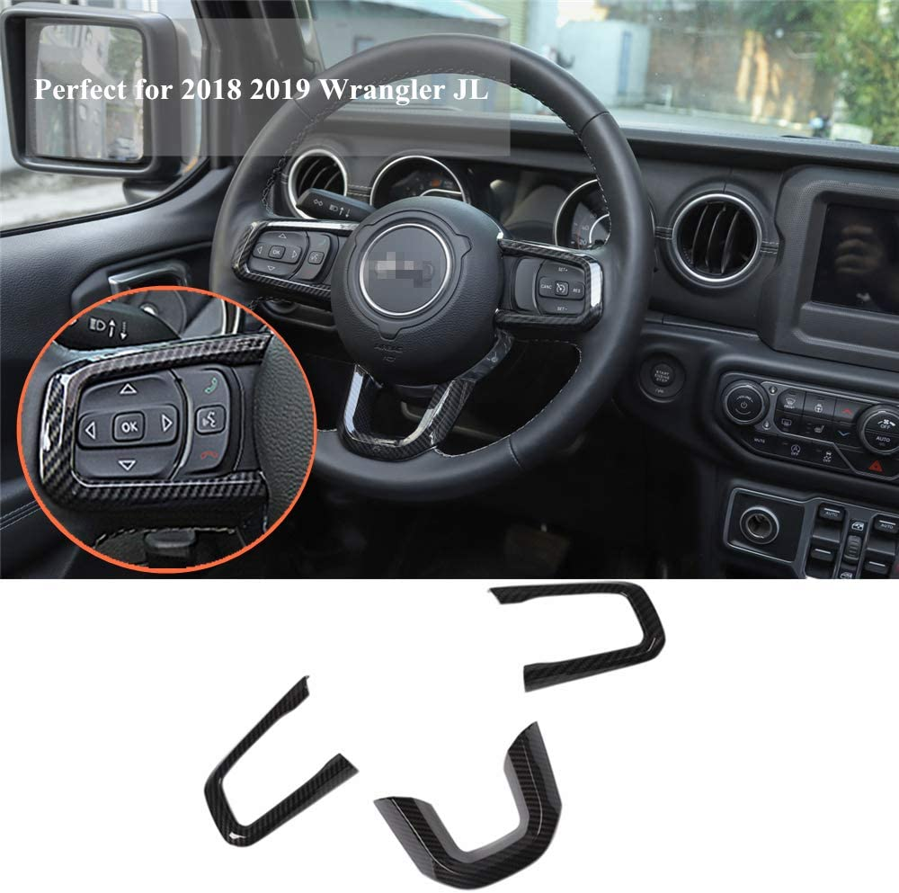 WYYYFA Steering Wheel Button Decorative Cover Multimedia Accessories,For Toyota Camry 2018 2019