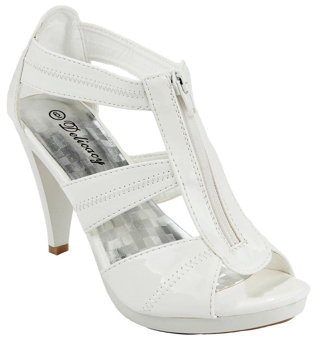 Women Strap Sparkle Rhinestone Strappy Zipper Open Toe Party Evening Dress Heels Sandal Pumps B071GS7VZV 7 B(M) US|White_m9