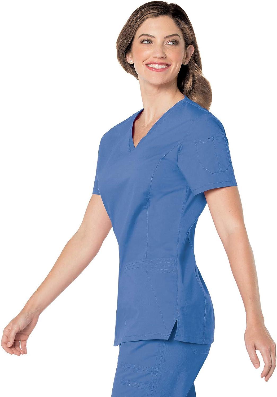 Landau Womens Womens Prewashed V-Neck Two Pocket Scrub Top