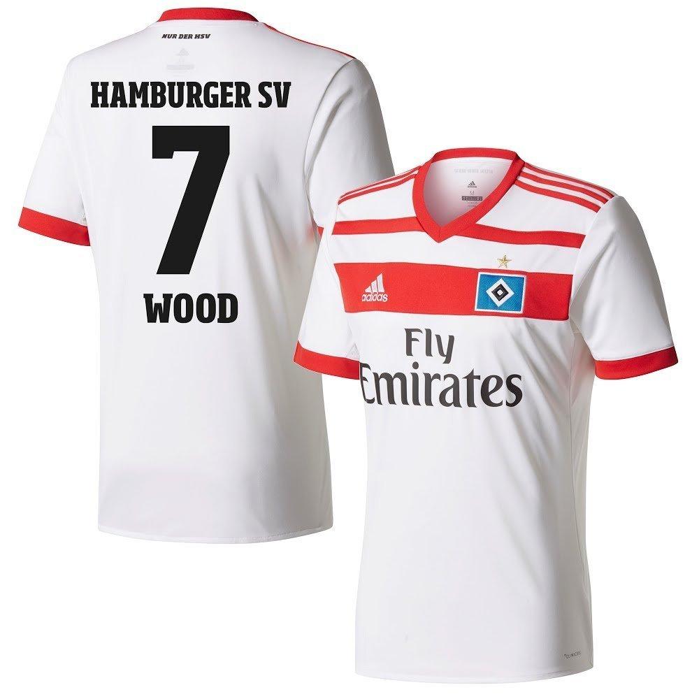 Hamburger SV Home Trikot 2017 2018 + Wood 7 (Fan Style) - S