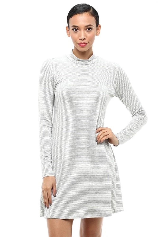 Vitamina USA Turtle Neck A-line Mini Dress #0004