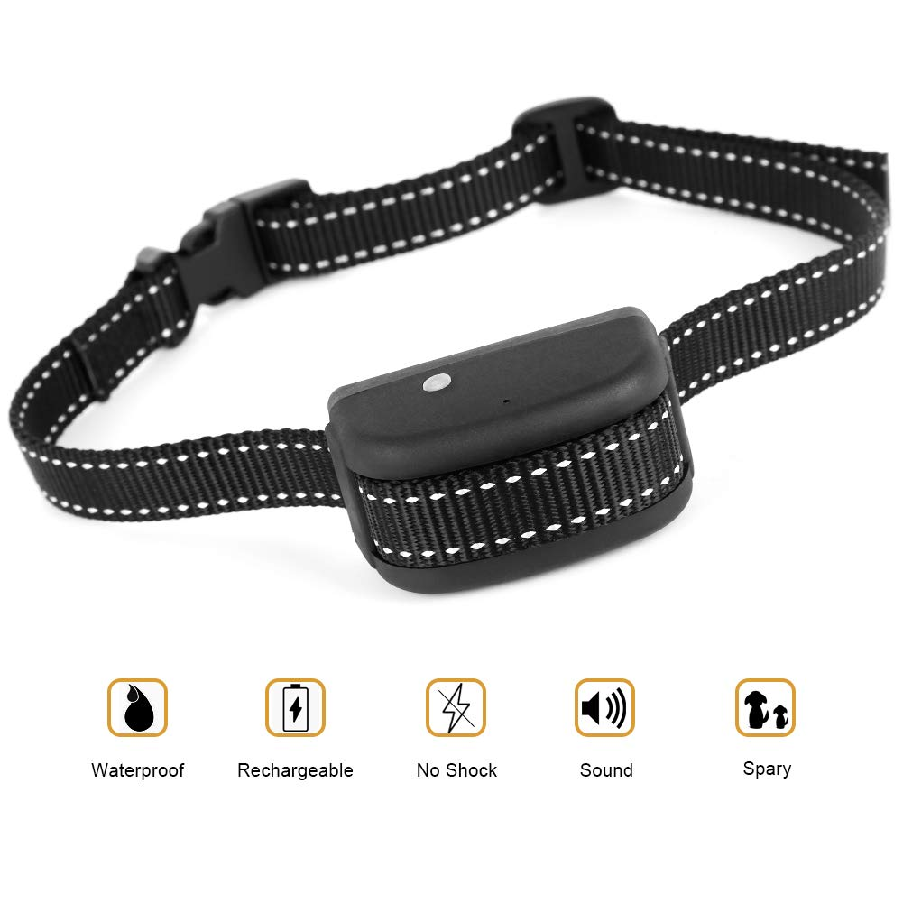 Flightbird Rechargeable Spray Bark Collar for Dogs, No Bark Dog Training Collar, NO BARK Collar,Citronella Spray Collar,Anti-Bark Device for Dogs,NO Shock, Harmless and Humane, Water Resistant IPX6.