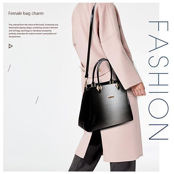 68658f1a2f62e G-AVERIL 2018 Damen Handtaschen Lackleder Farbverlauf Handtasche Grau   Amazon.de  Koffer