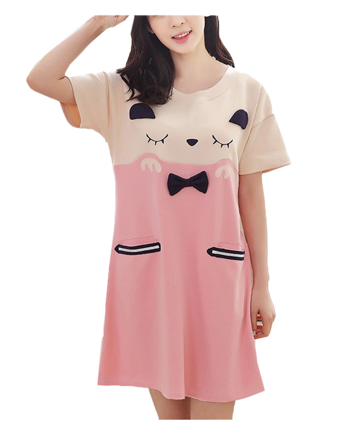 Big Girls Cute Cartoon Nightgown Pajamas Homewear