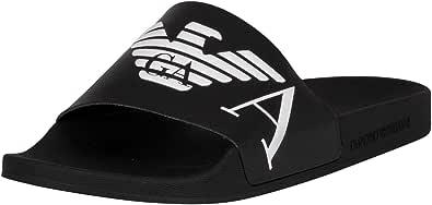 Emporio Armani Swimwear Slipper Monogram, Sandalia Slide Hombre