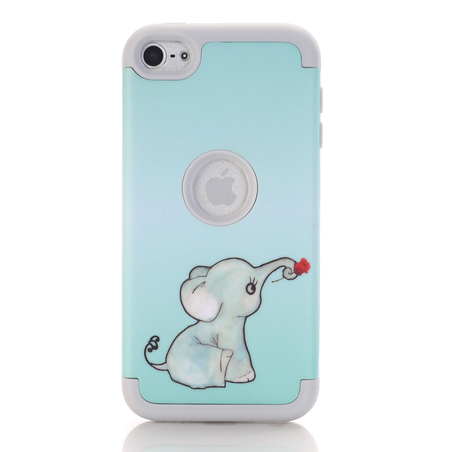 ,with Screen Protector and Stylus TM Elephant Pattern Black Rosepark iPod Touch 5 case,iPod Touch 6 Case, 3 Pieces Style Hybrid Shockproof Hard Case Cover for Apple iPod Touch 5 6th Generation