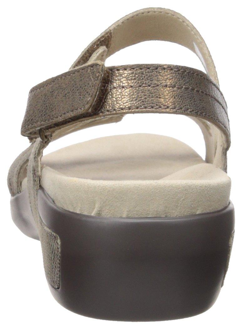 751c41412 Buy Aravon Women s Power Comfort Three Strap Heeled Sandal Metallic ...