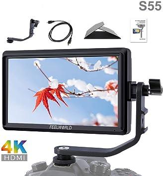 FEELWORLD S55 5.5 inch 4K HDMI Full HD 1280x720 IPS Camera DSLR Field Monitor
