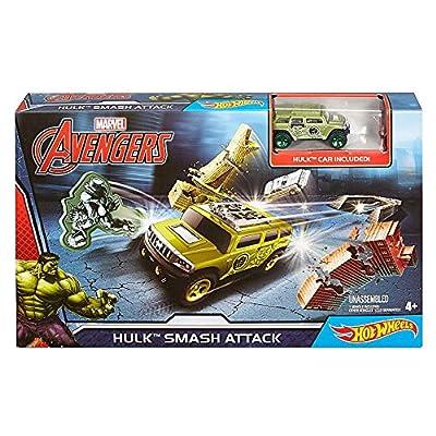 Hot Wheels Marvel Avengers Hulk Smash Attack: Toys & Games