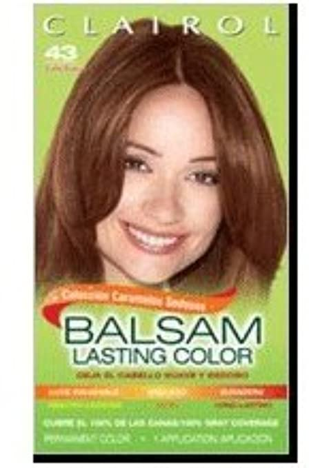 Amazon.com : Balsam Hair Color, #43 Medium Golden Brown 1 kit (Pack of 5) : Beauty