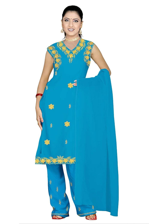 Trendofindia Hellblaues Salwar Kameez/Punjabi Größe XL