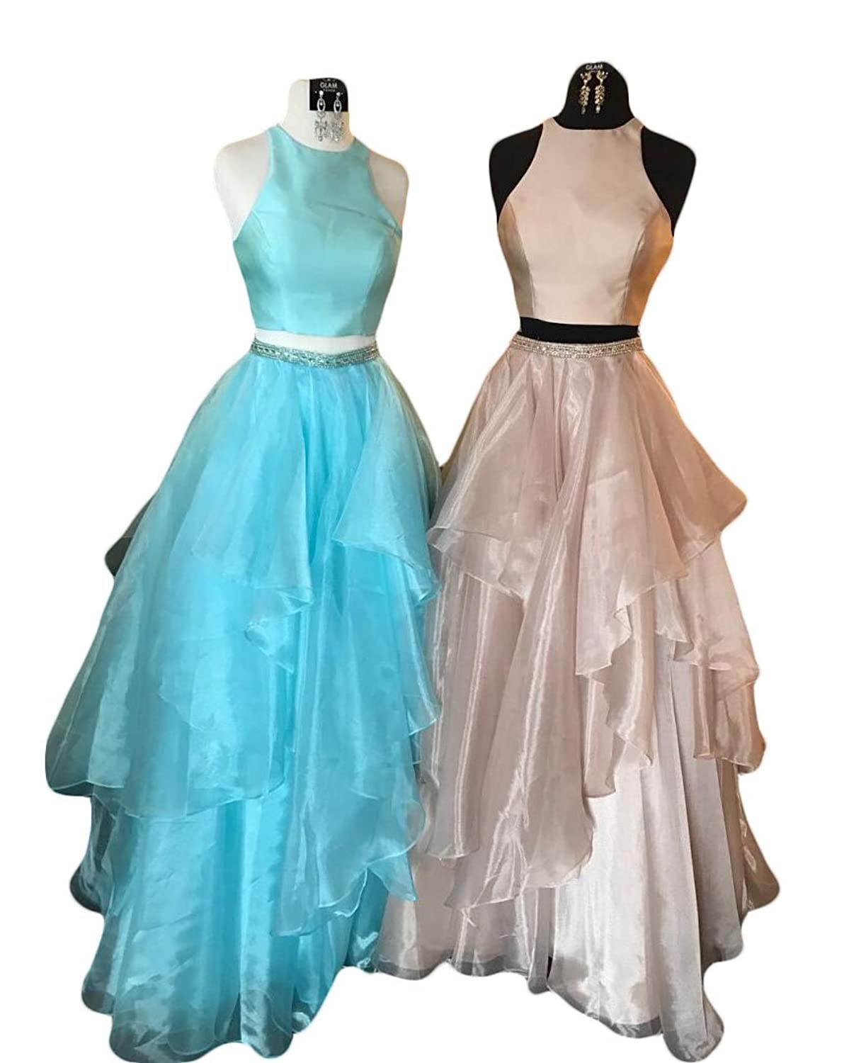 2018 Ever Pretty Two Piece Puffy Prom Dresses Long Vestidos Gala Gowns at Amazon Womens Clothing store: