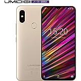 UMIDIGI F1 SIMフリースマートフォン Android 9.0 6.3インチ FHD+ 大画面 ノッチ付きディスプレイ 128GB ROM + 4GB RAM Helio P60オクタコア 5150mAh大容量バッテリー 18W高速充電 16MP+8MPデュアルリアカメラ 顔認証 指紋認証 ゴールド