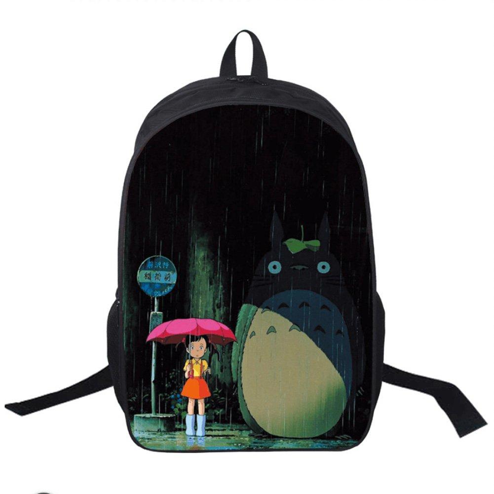 Memorecool Hayao Miyazaki Animation Unisex School Backpack Bags Totoro Person.. 14