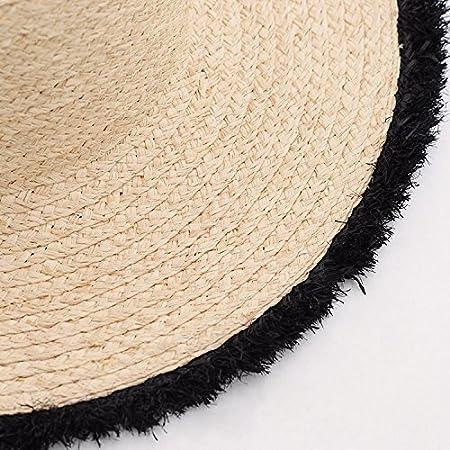 ALWLj Mujer sombreros de Paja Sombrero de Paja de rafia natural sombreros  de sol de verano en las playas para niñas  Amazon.es  Deportes y aire libre 5887ec2ce46