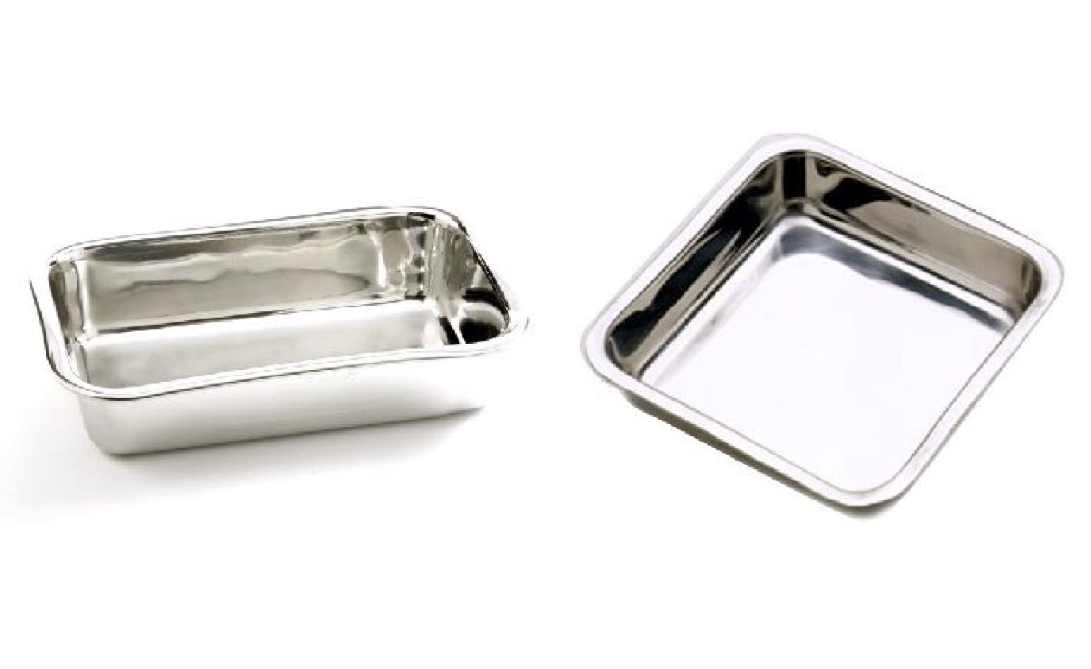 Norpro Combo: 8.5'' Loaf Pan and 7.5'' Square Cake Pan, Stainless Steel