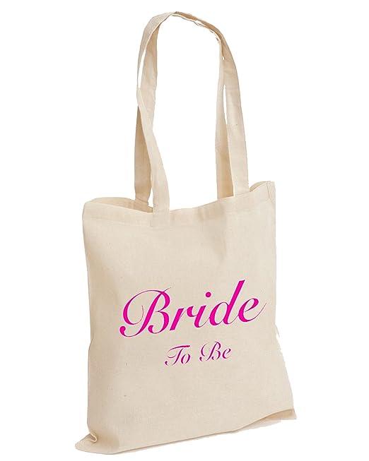 NATURAL COTTON SHOULDER BAG HEN NIGHT GIFT Wedding Favour BRIDE TO BE