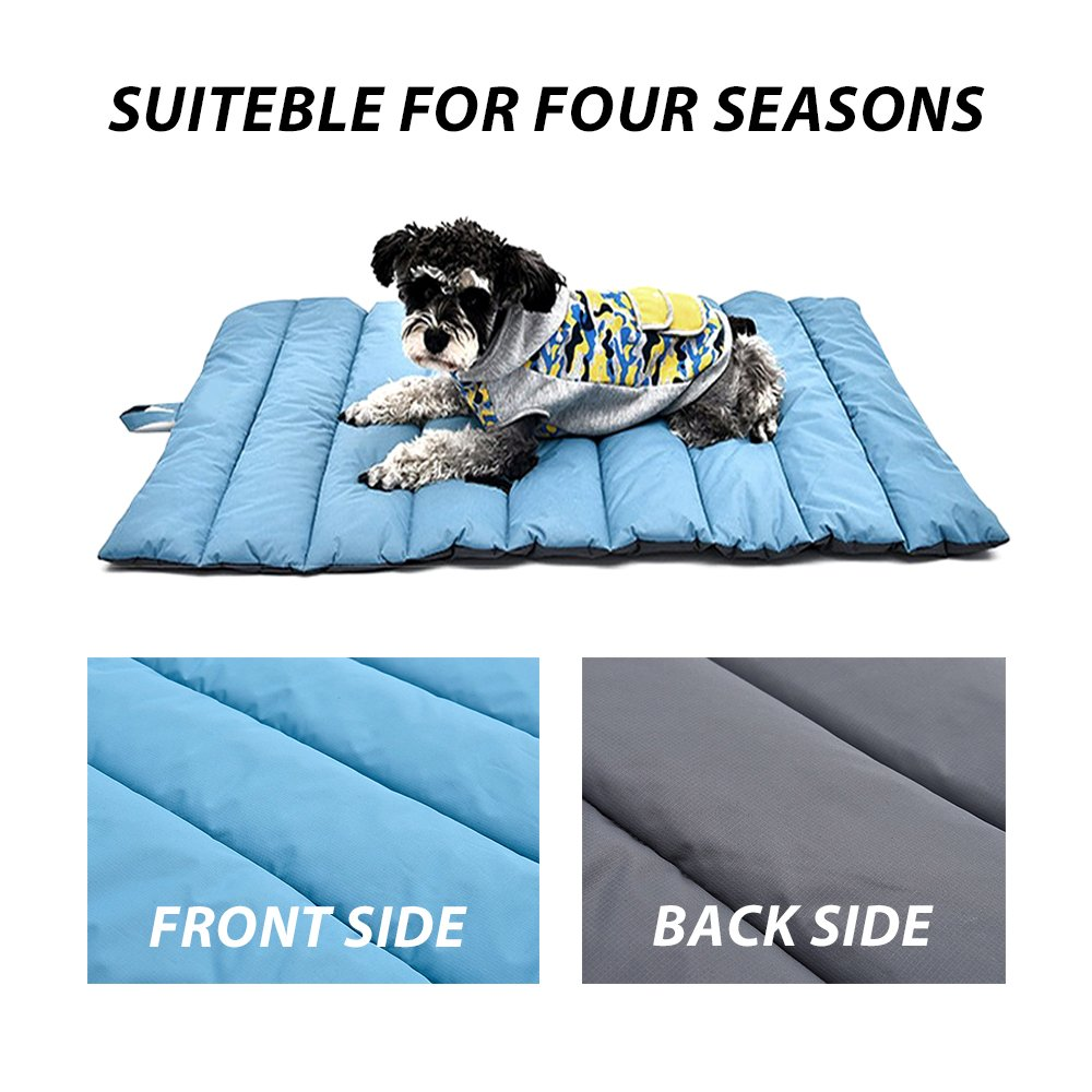 Portable Waterproof Soft Dog Mat for Dog Bed Couch Cushions Indoor or Outdoor Dog Blanket Blue Large by furrybaby (Image #3)