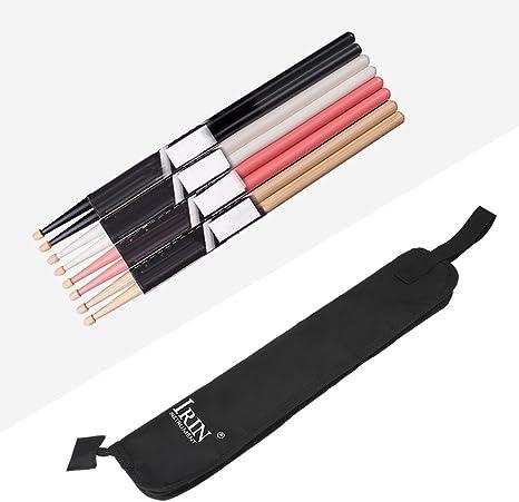 Stick Bag Baqueta Bolsa,Estuche de Funda de Baquetas Bateria Bolsa de Palillo de Tambor Tela Ox Impermeable Bolsa de Almacenamiento de Baquetas de Mazo de Tambor de Percusión,Negro: Amazon.es: Deportes y aire