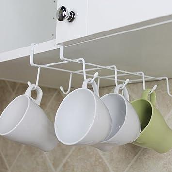 Tasse Halterung Unter Schrank 8 Haken Cup Aufhänger Handtuch Organizer  Storage Für Küche Badezimmer Schrank Küche