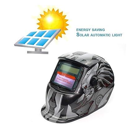 LasVogos Alimentadas por energía Solar oscurecimiento automático de Soldadura TIG MIG MMA Soldadura Eléctrica máscara del