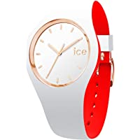 Ice-Watch - Ice Loulou White Rose-Gold - Montre Blanche pour Femme avec Bracelet en Silicone