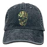 Men & Women Cotton Adjustable Denim Hat Gym Caps - Skull Camo